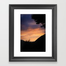 Sunset in the Mountains Framed Art Print