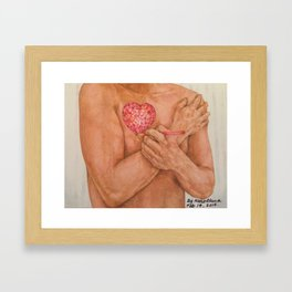 Embrace love Drawing Framed Art Print