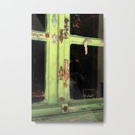 green vintage window Metal Print