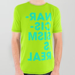 Narcissism is Real - Lime All Over Graphic Tee