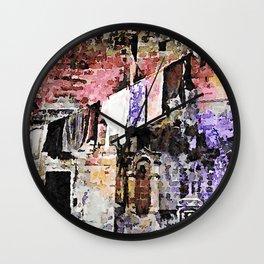 Sassi di Matera: laundry Wall Clock