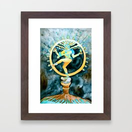 Nataraja, The Cosmic Dancer Framed Art Print