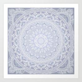 Mandala Soft Gray Art Print