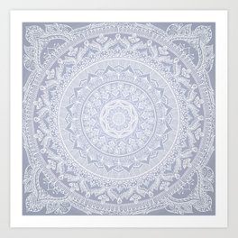 Mandala Soft Gray Kunstdrucke