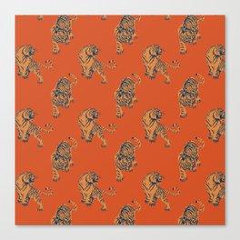 red tiger print Canvas Print