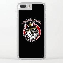 Good Boy French Bulldog Clear iPhone Case