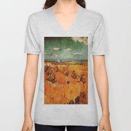 Van Gogh, millstones  – Van Gogh,Vincent Van Gogh,impressionist,post-impressionism,brushwork,paintin Unisex V-Neck