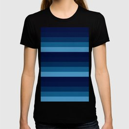 teal blue stripes T-shirt