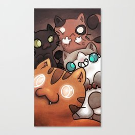 Silly cats Canvas Print
