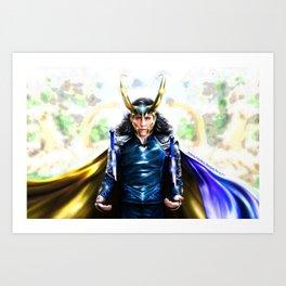Loki - Ragnarok IV Blue Art Print