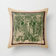 gaia mandala Throw Pillow