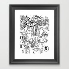 ¿qué ves? Framed Art Print
