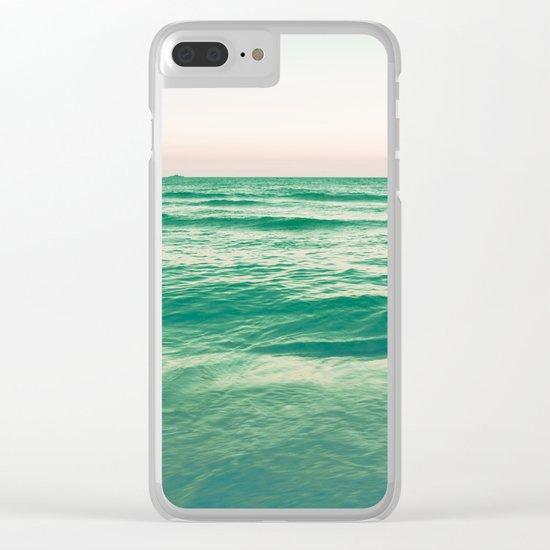 Pastel ocean Clear iPhone Case