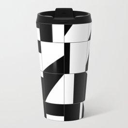 AGBW - Abstract, Geometric, Black & White Travel Mug