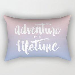 Adventure of a Lifetime - Serenity / Rose Quartz Rectangular Pillow