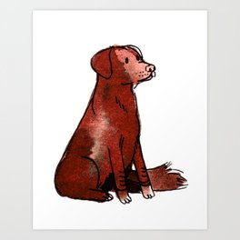 Cocoa - Dog Watercolour Art Print