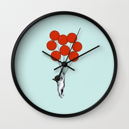I Believe I Can Fly French Bulldog Wall Clock