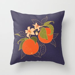 Orange Branch Throw Pillow