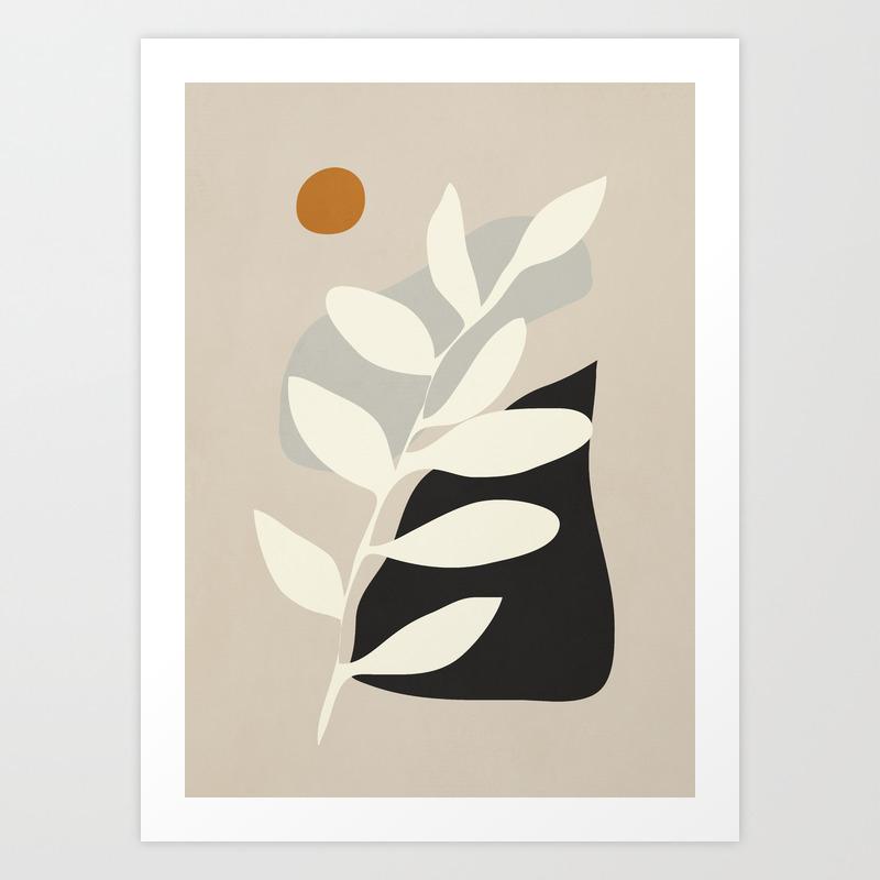 abstract minimal 21 Art Print
