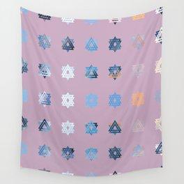 Triniti Snow Crystal Dusky Pink Wall Tapestry