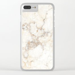 Marble Natural Stone Grey Veining Quartz Clear iPhone Case