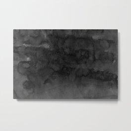 Black Ink Art No 4 Metal Print
