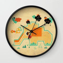 Elephant Playground Wall Clock