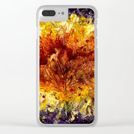 Fire Flower - Vulpecula Clear iPhone Case