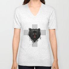 bear cross Unisex V-Neck