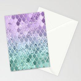 Mermaid Glitter Scales #1 #shiny #decor #art #society6 Stationery Cards