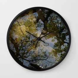 Late Summer Puddle Wall Clock