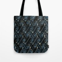industrial Tote Bags featuring Industrial by AlexinaRose
