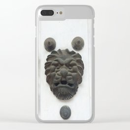 Cartagena Lion Mug, Colombia, South American Clear iPhone Case
