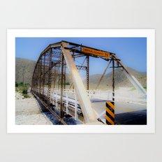Green Spot Bridge Art Print