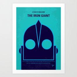No406 My The Iron Giant minimal movie poster Art Print