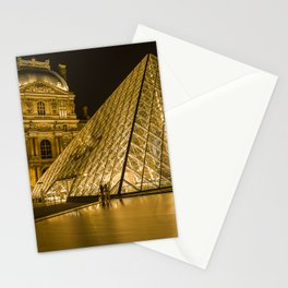France Photography - Louvre Museum In The Night Stationery Cards
