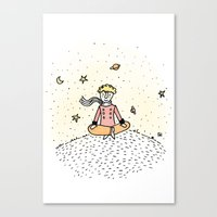 the little prince Canvas Prints featuring Little Prince by nelasnow
