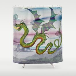 Dragon Kite Shower Curtain