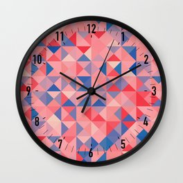 colorful Triangles 1 Wall Clock
