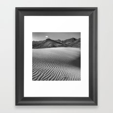 Windy traces. Past dreams Framed Art Print