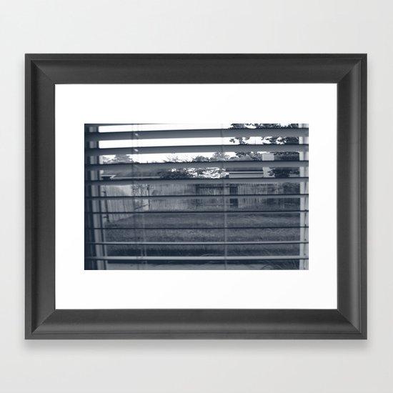 Black & White Background Framed Art Print