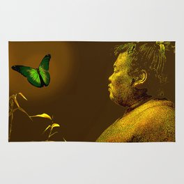 The short-lived life of the butterfly and the sumo wrestler Rug
