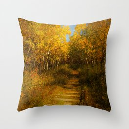 Old Spur Line Throw Pillow