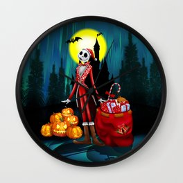 Halloween Jack santa claus Skellington iPhone 4 4s 5 5c 6, ipod, ipad, pillow case Wall Clock