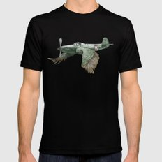 In which it's a bird. It's a plane. (Now in technicolour) LARGE Black Mens Fitted Tee
