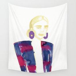 Meg's extravagant cardigan Wall Tapestry