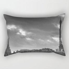 Eiffel tower under the clouds Rectangular Pillow