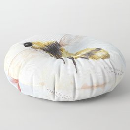 Bumble bee watercolor Floor Pillow