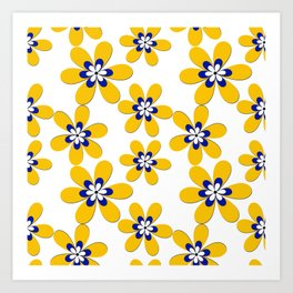 Flower yellow Art Print