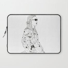 girl with record plastic bag Laptop Sleeve
